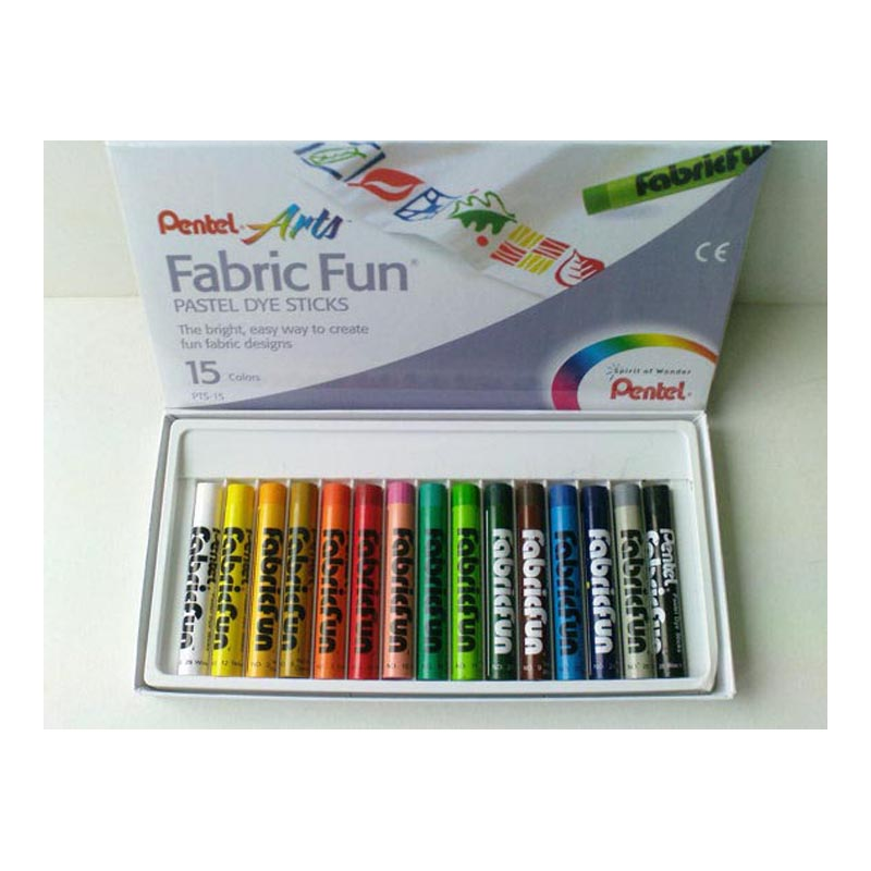 Pentel Fabric Fun Pastel Dye Sticks Pkt 15