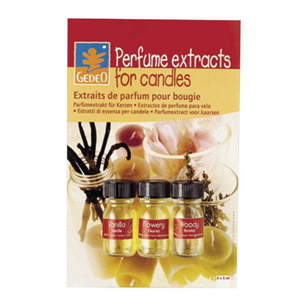 Gedeo Candle Perfume Pkt of 3