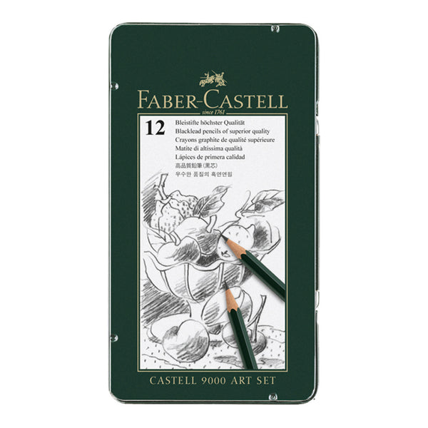 Faber-Castell 9000 Art Set of 12 - 8B to 2H