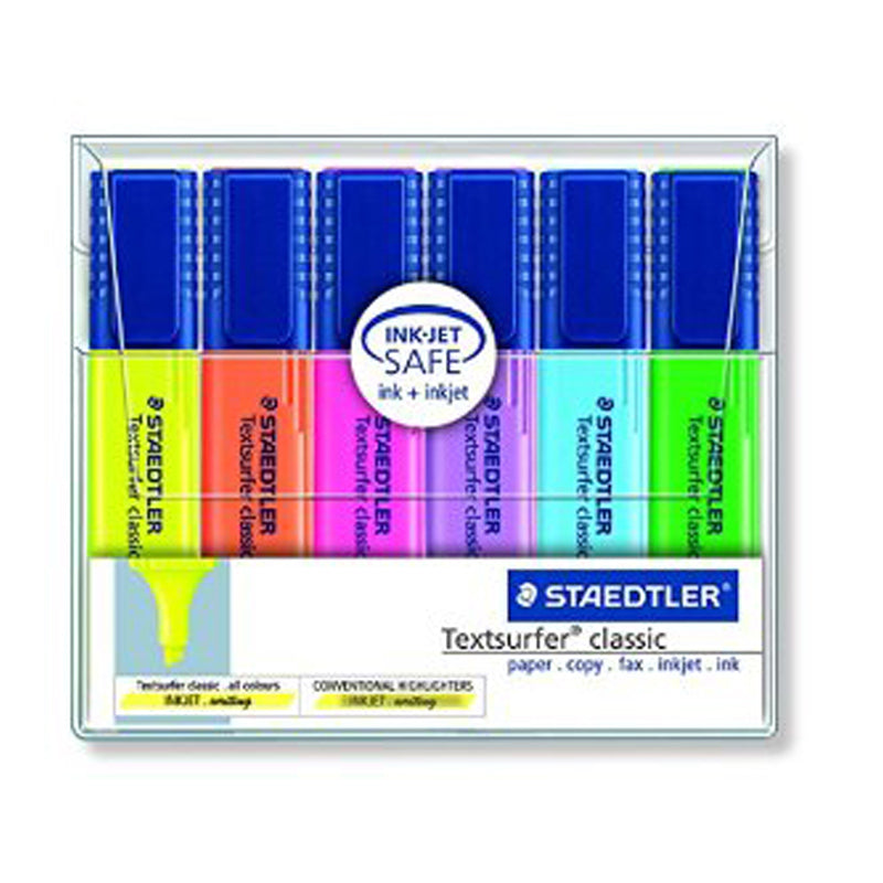 Staedtler Textsurfer Classic Highlighter Wallet of 6
