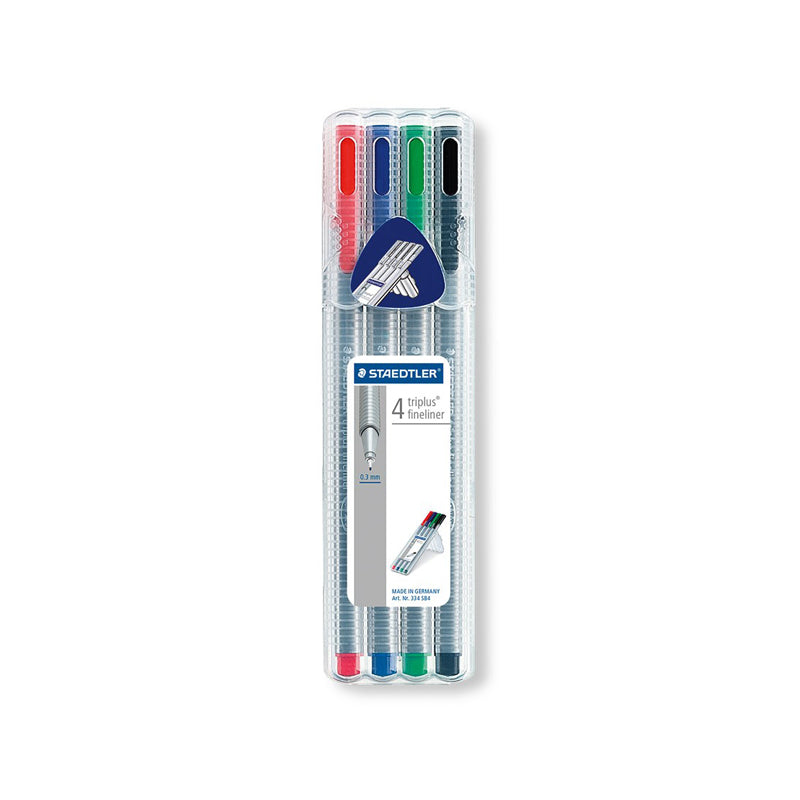 Staedtler Triplus Fineliner Assorted Wallet of 4