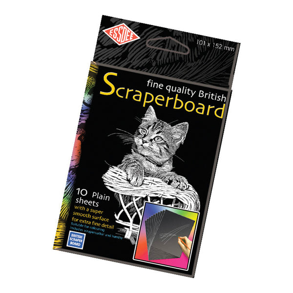 Essdee Black Scraperboard 152 x 101mm - per board