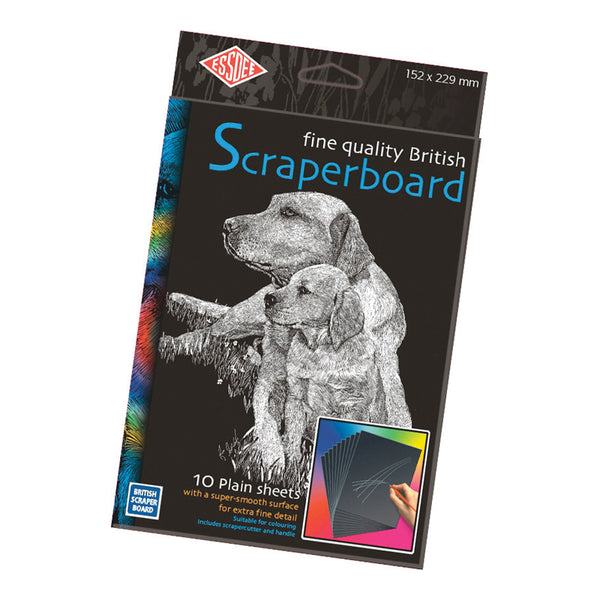 Essdee Black Scraperboard 229 x 152mm - per board