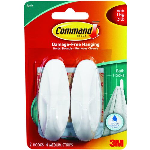 Command 3M Adhesive Hook Medium Pk 2