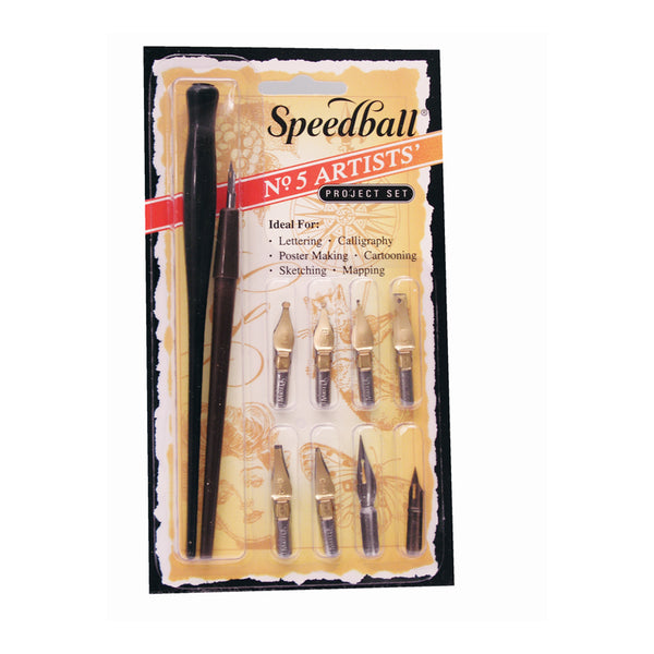 Speedball 5 Artist Nib Pen Set - 9 nibs