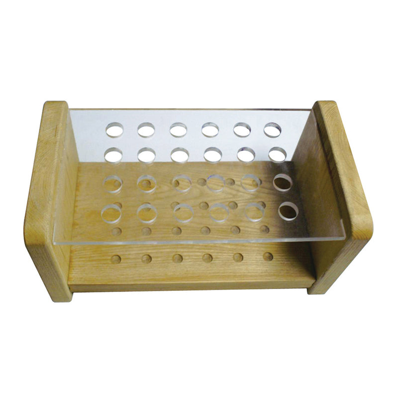 NAM 24 Hole Brush Holder - wood and perspex