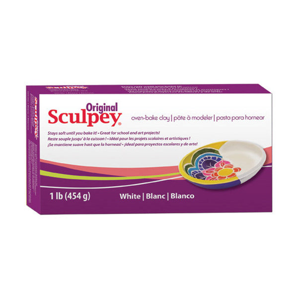 ORIGINAL SCULPEY POLYMER CLAY 454g / 1lb - White
