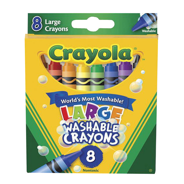 Crayola Washable Large Crayons Set of 8