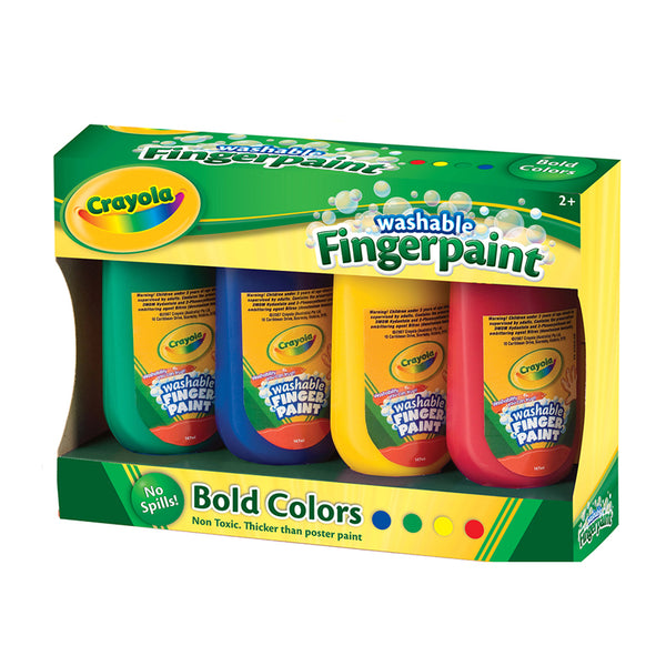 Crayola Washable Finger Paint 4 x 250ml