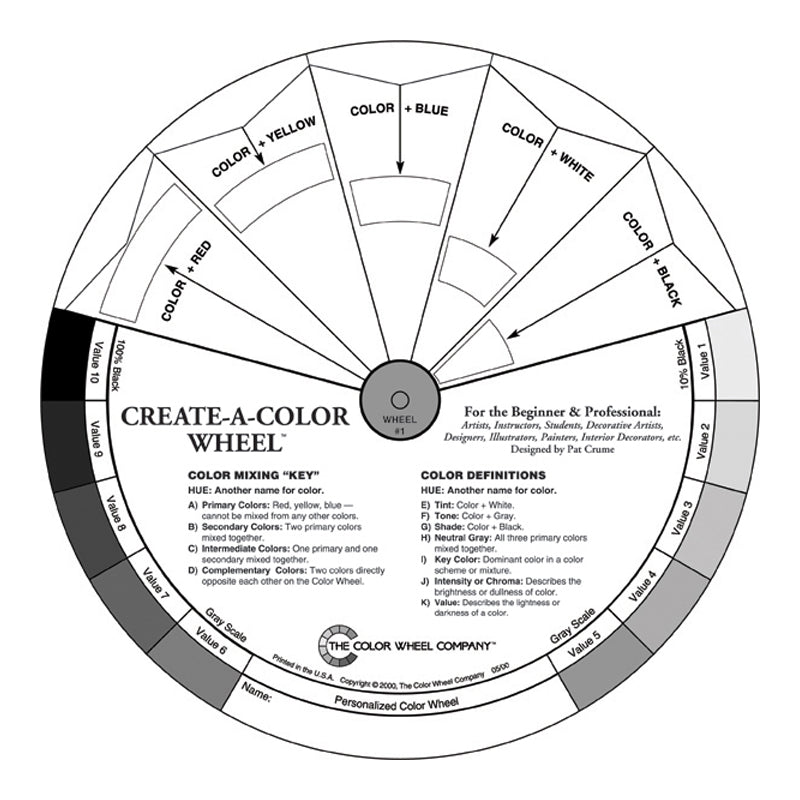 Create-A-Color Wheel (Black and White)