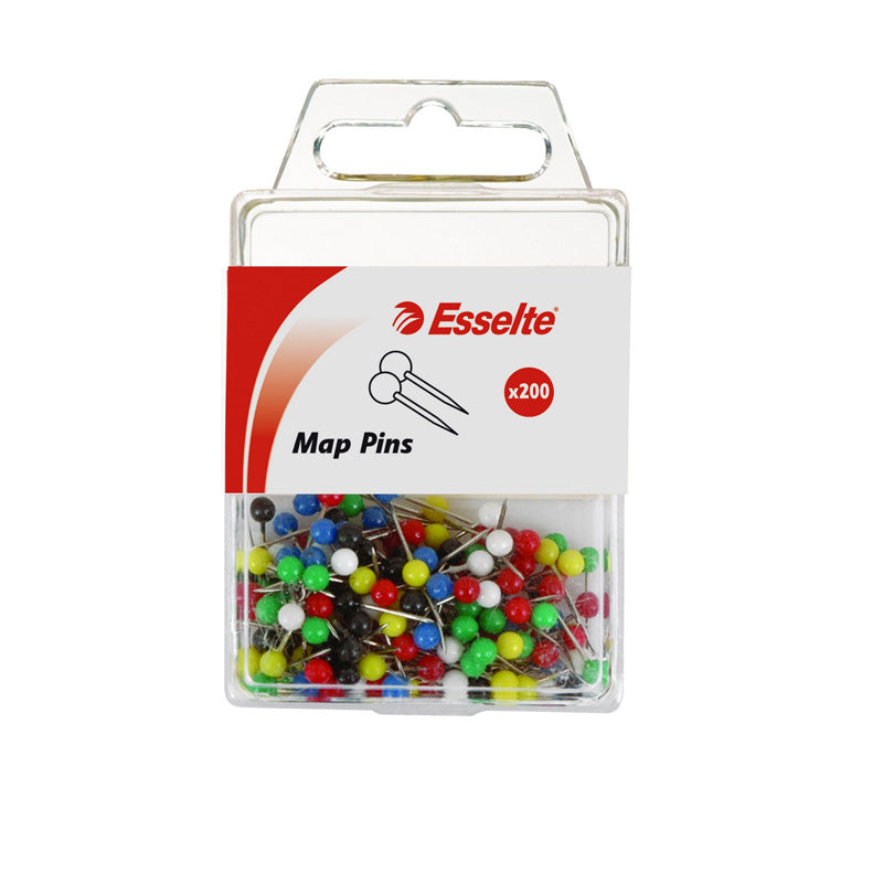 ESSELTE MAP PINS pack of 200