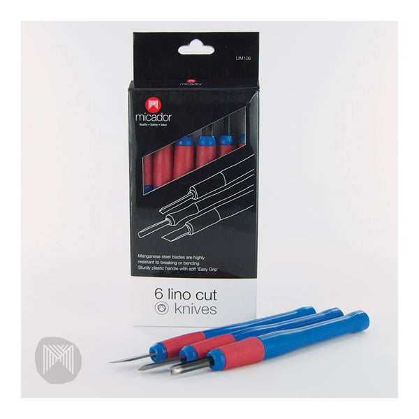 Micador Lino Carving Tools Set of 6 Easy Grip