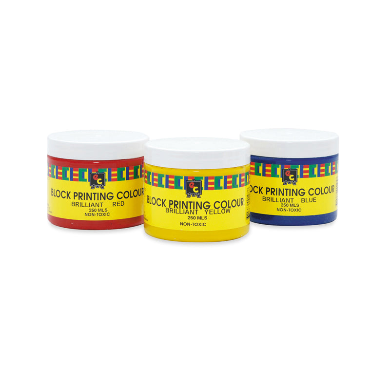 Educational Colours BLOCK PRINTING INK