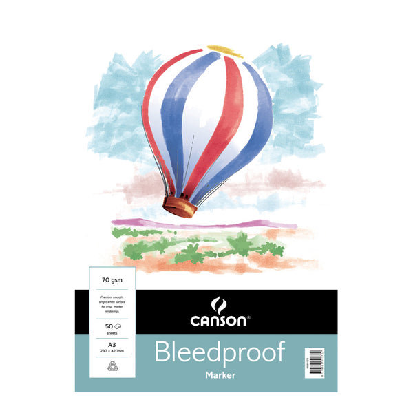 Canson Bleedproof Paper Pad 70gsm