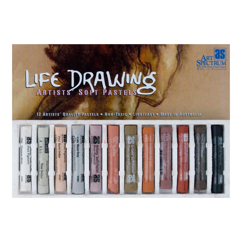 Art Spectrum PASTEL Set of 12 - Life Drawing Colours