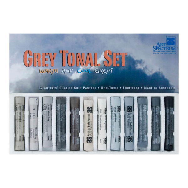 Art Spectrum PASTEL Set of 12 - Grey Tonal Colours