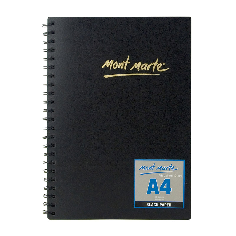 Mont Marte Visual Art Diary Black 140gsm A4