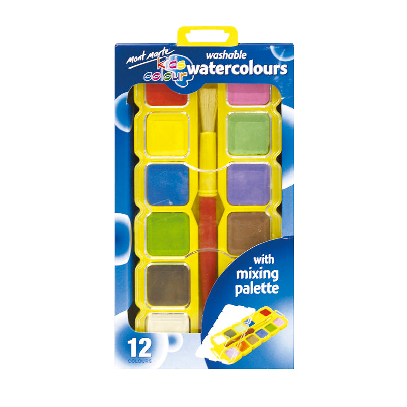 Mont Marte Kids Colour Watercolour Block Set 14pce