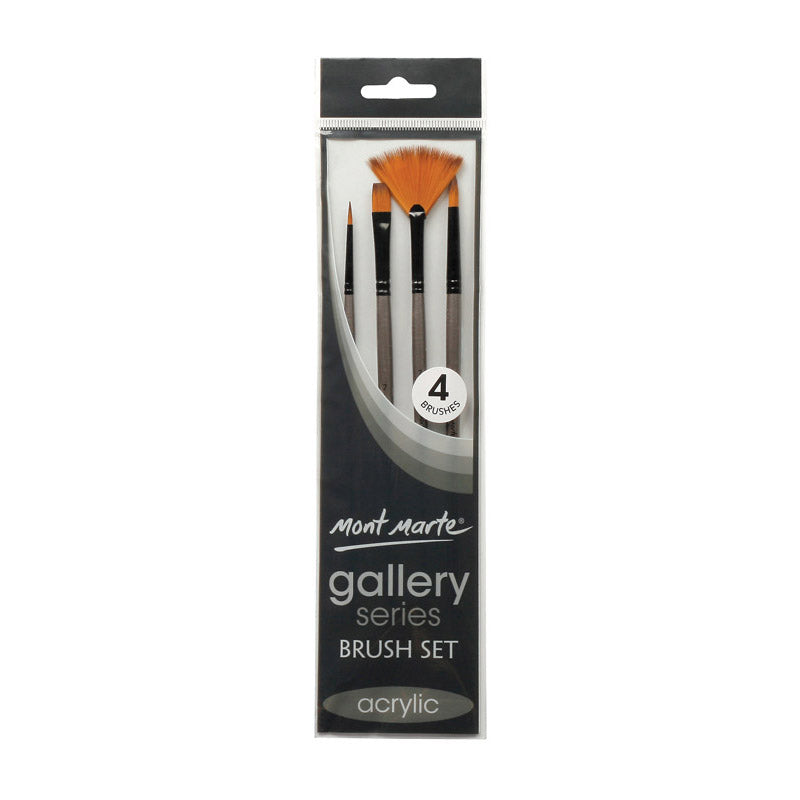 Mont Marte Gallery Series Brush Set Acrylic 4pce No.10