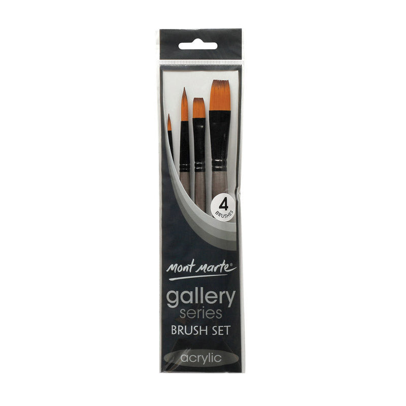 Mont Marte Gallery Series Brush Set Acrylic 4pce No.14