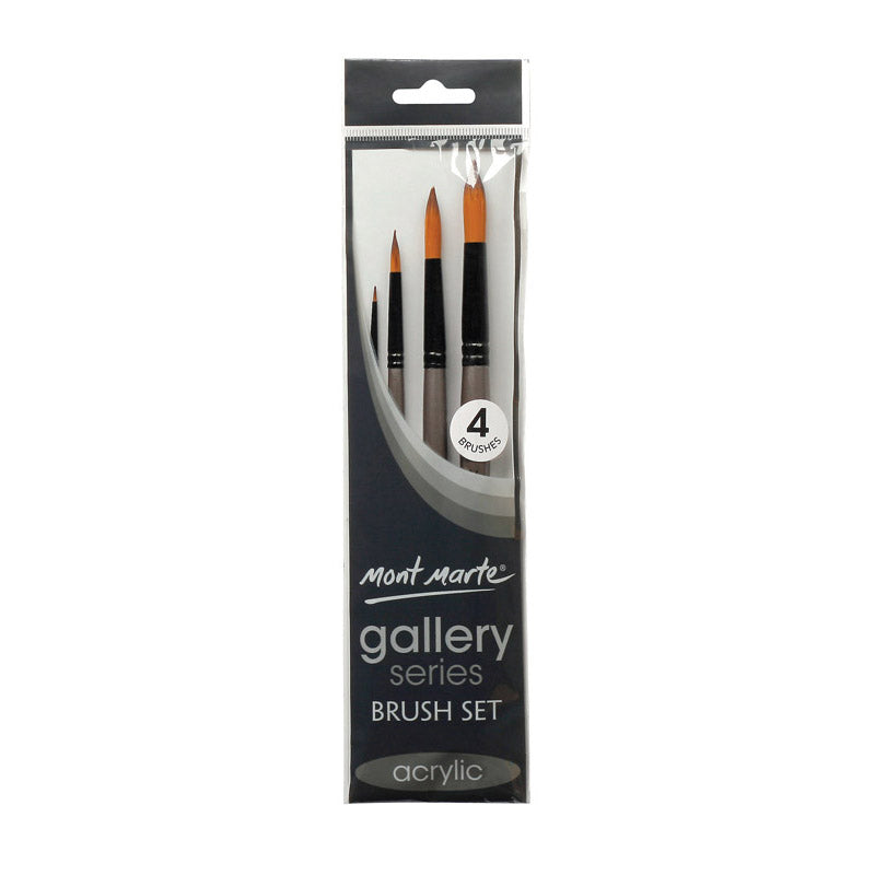 Mont Marte Gallery Series Brush Set Acrylic 4pce No.15