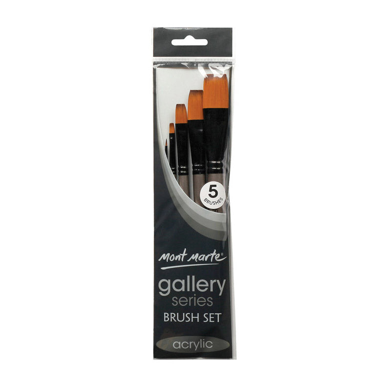 Mont Marte Gallery Series Brush Set Acrylic 5pce No.16