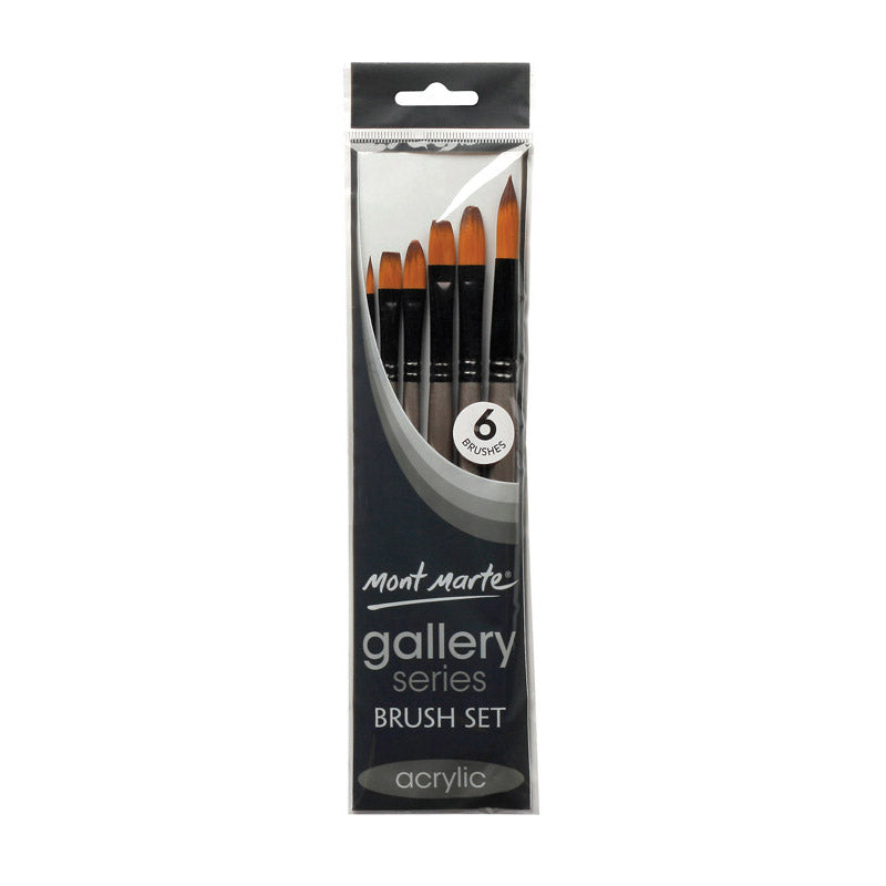 Mont Marte Gallery Series Brush Set Acrylic 6pce No.17
