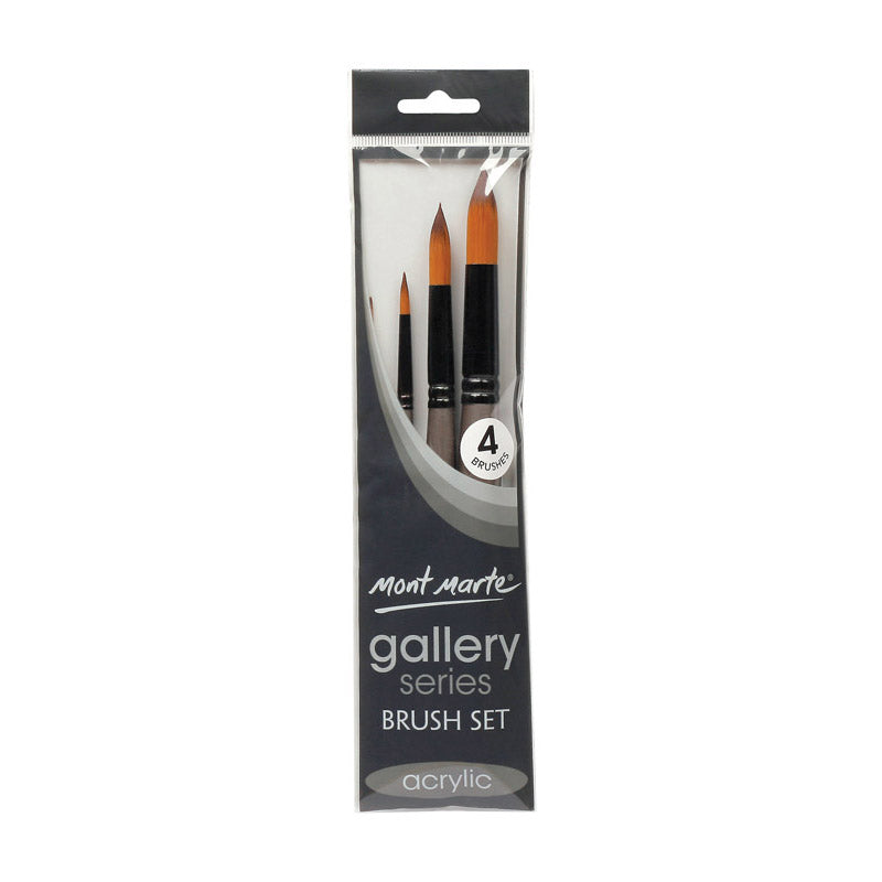 Mont Marte Gallery Series Brush Set Acrylic 4pce No.18