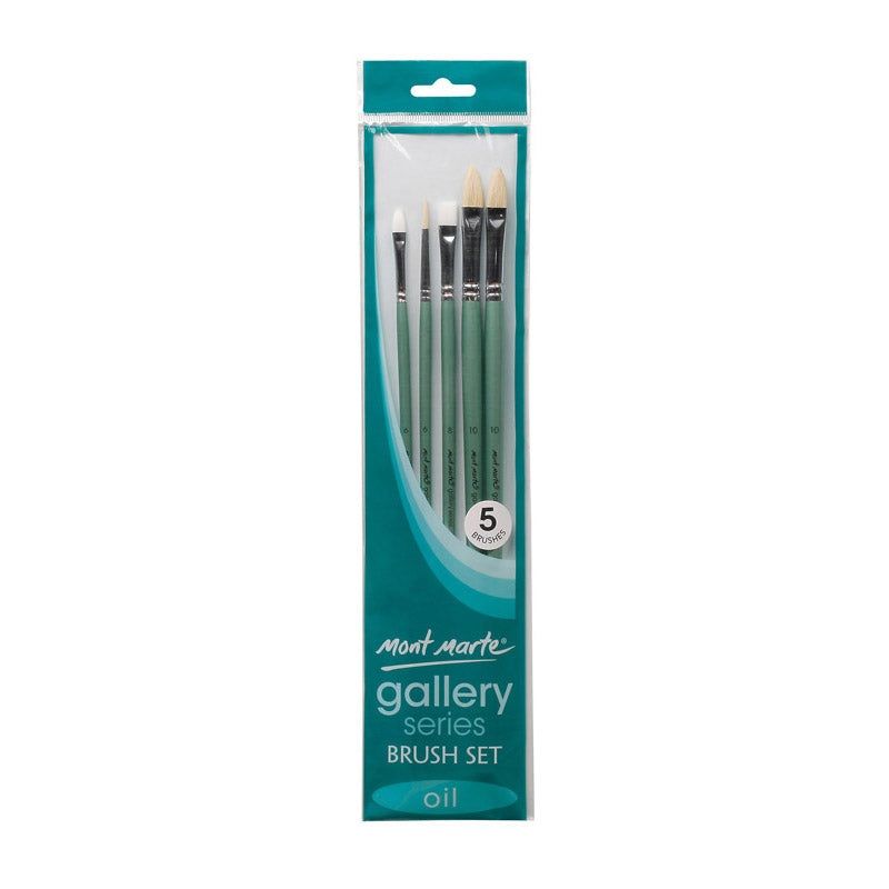 Mont Marte Gallery Series Brush Set Oils 5pce No.20