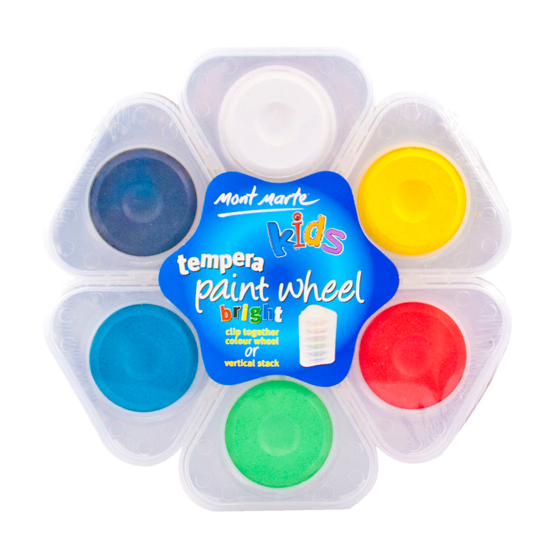 Mont Marte Kids Tempera Paint Wheel 6pce - Bright