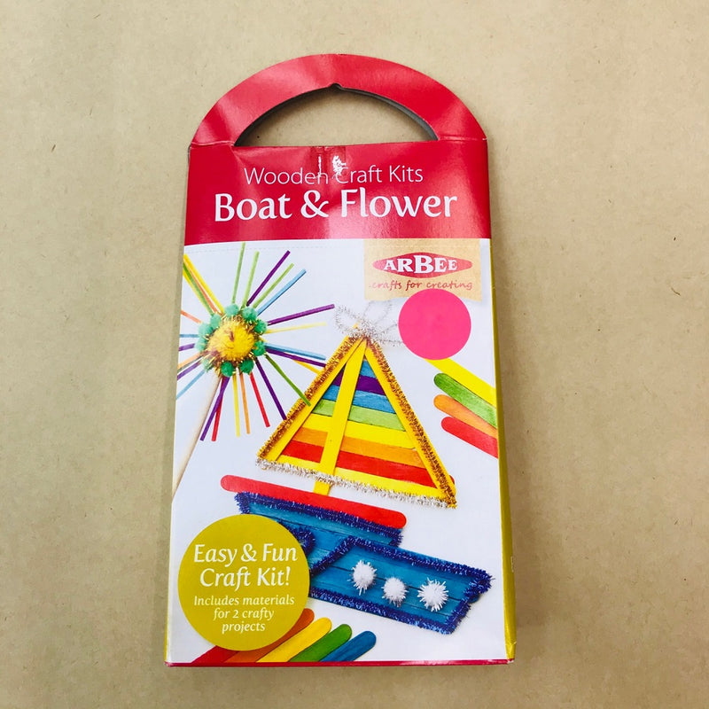 Arbee Wooden Craft Kit - Boat and Flower