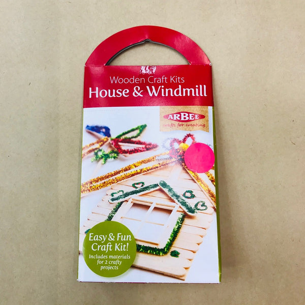 Arbee Wooden Craft Kit - House and Windmill