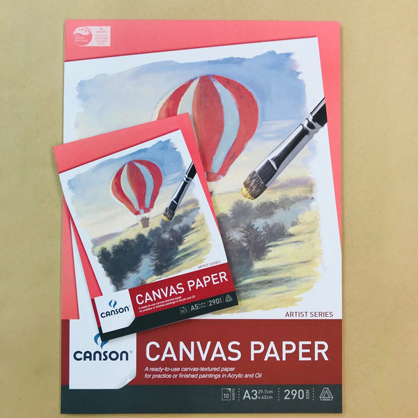 Canson Canvas Paper Pad 290gsm 10 sheets