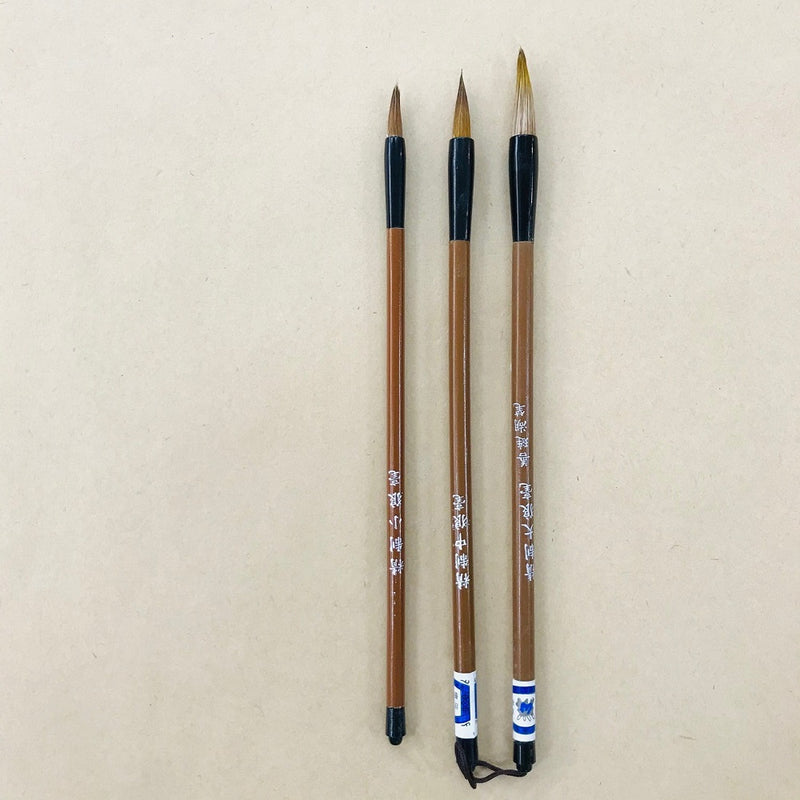 Chinese Pen Brushes Assorted pack of 3