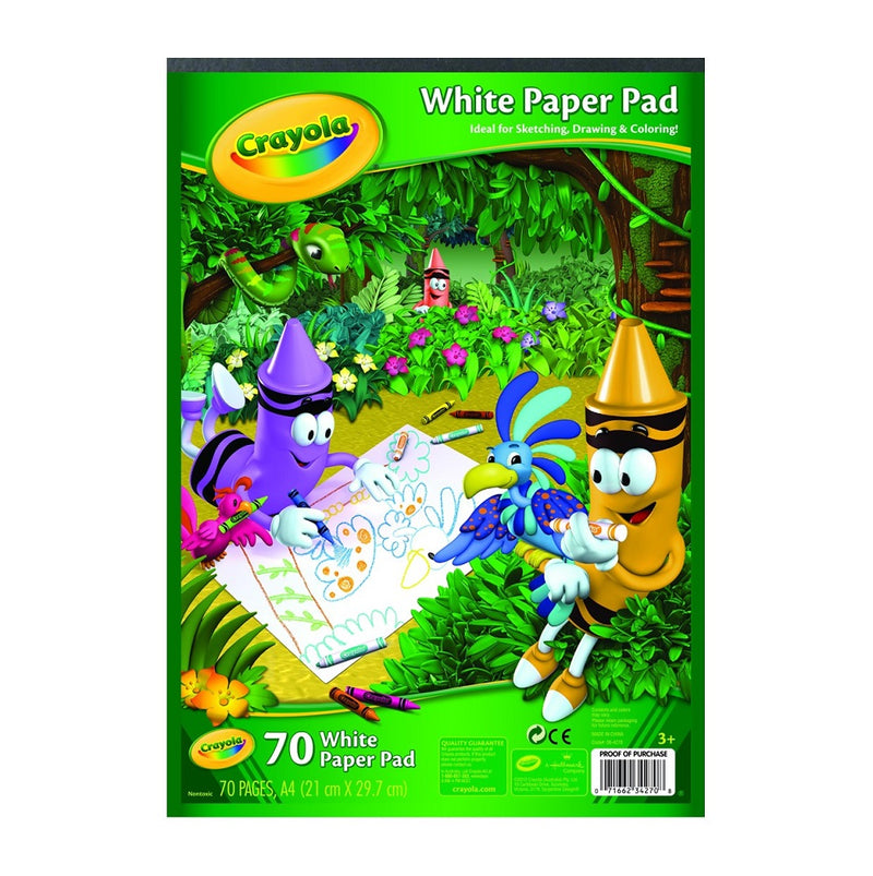 Crayola A4 White Paper Pad 70 pages