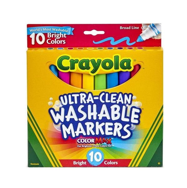Crayola Ultra Clean Washable Markers Bright x 10
