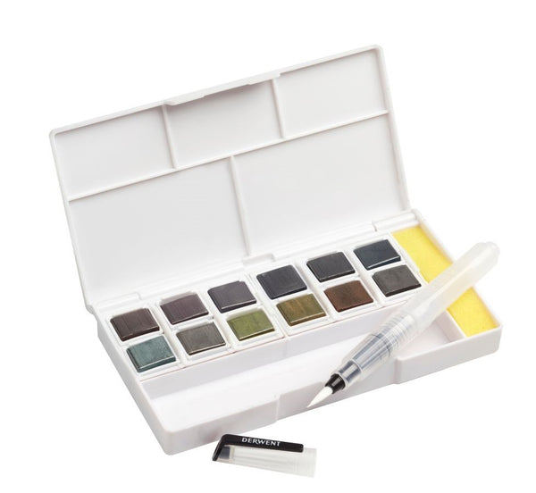 Derwent Graphitint Paint Pan Travel Set of 12