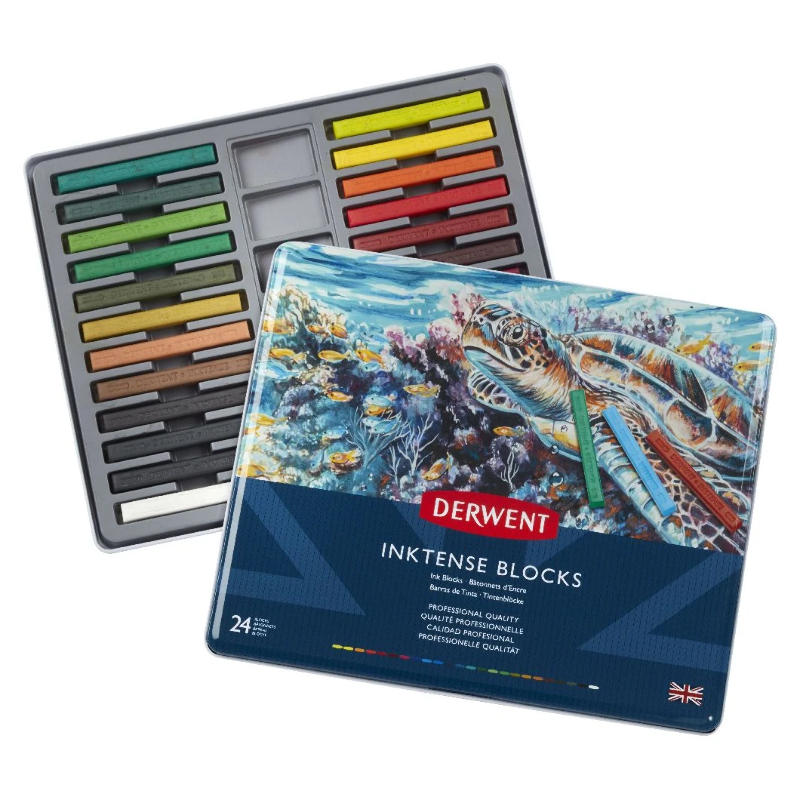 Derwent Inktense BLOCKS tin 24