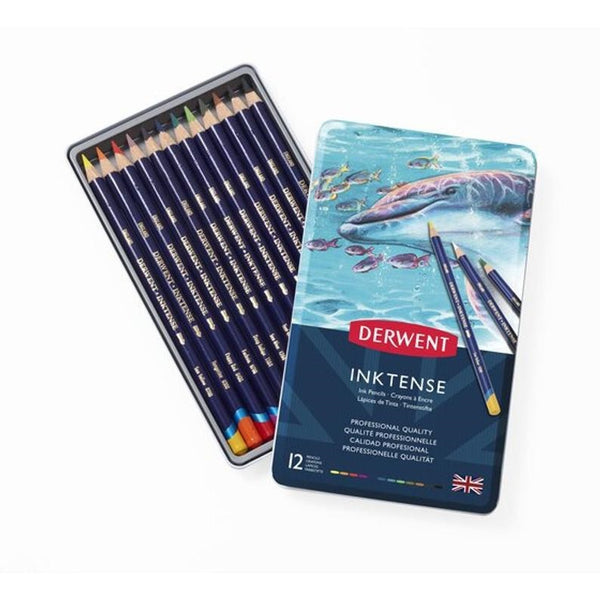 Derwent Inktense Pencil Tin of 12 Assorted