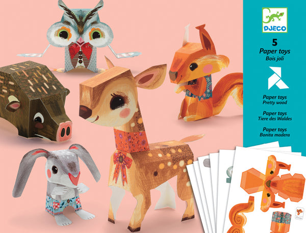Djeco Paper Toys - Pretty Wood
