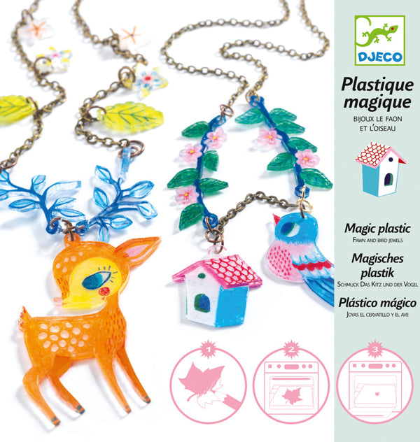 Djeco Plastic Shrinkies - Fawn and Bird
