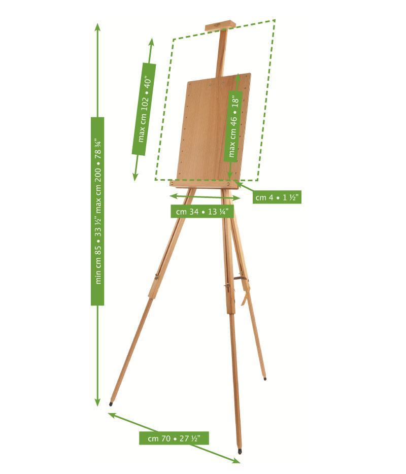 Mabef M26 Tripod Easel with wooden panel
