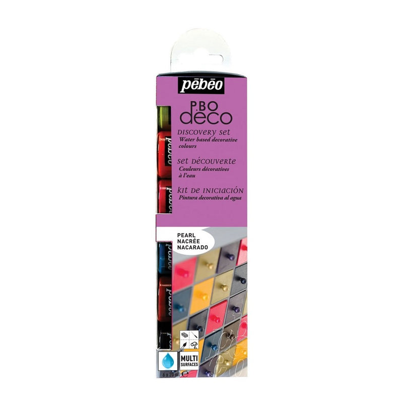 Pebeo Discovery Kit Deco Acrylic Pearl 6 x 20ml