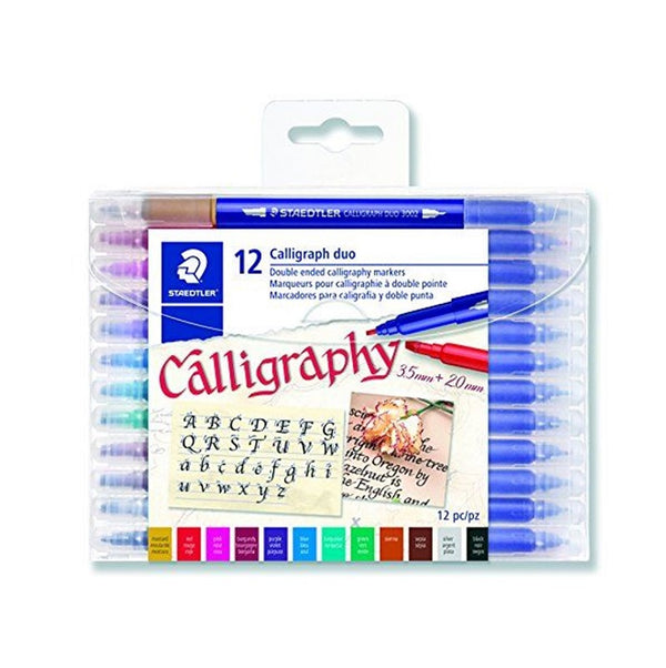 Staedtler Double Ended Calligraphy Pens 12pce