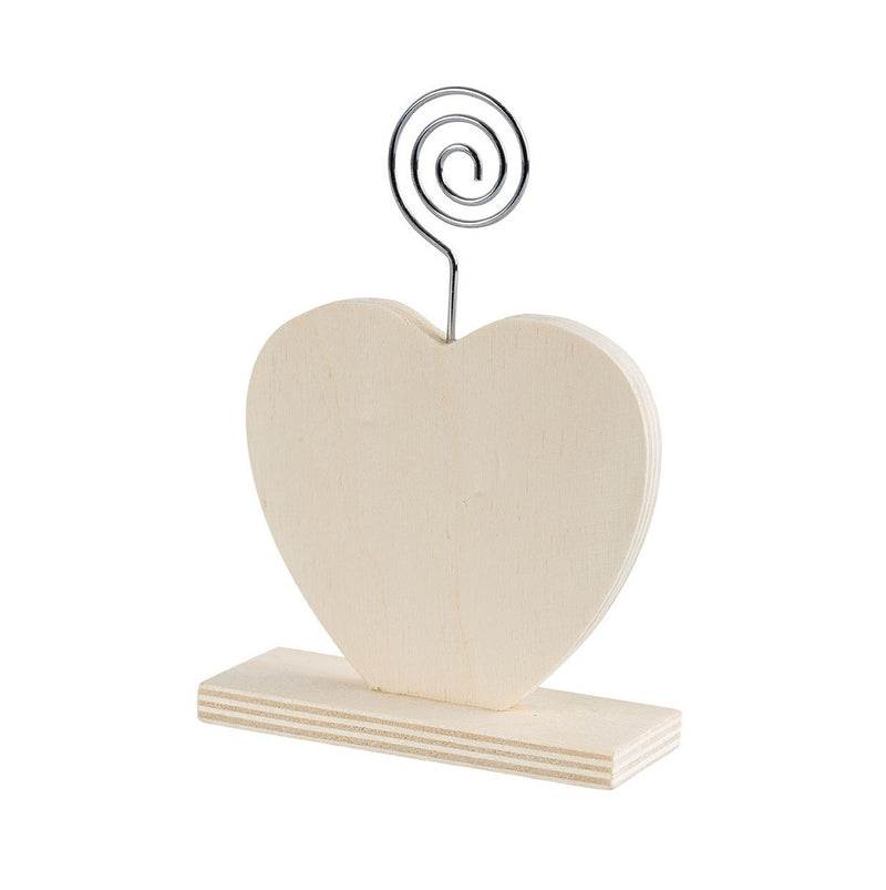 Zart Heart Wooden Stand with Photo Holder