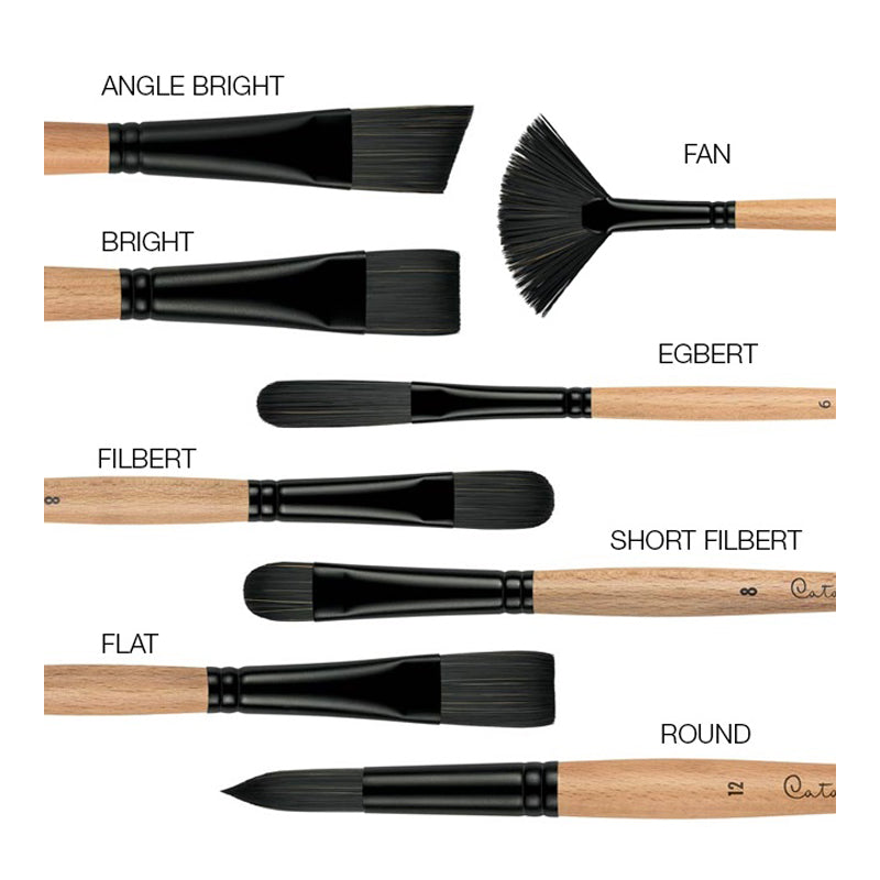 Princeton Brush 6400 Catalyst Polytip Filbert