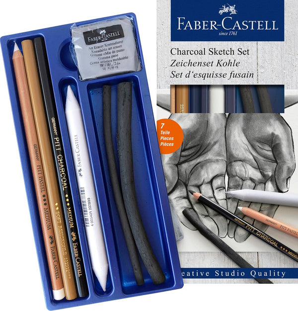Faber-Castell Charcoal Sketch Set with Eraser and Stump
