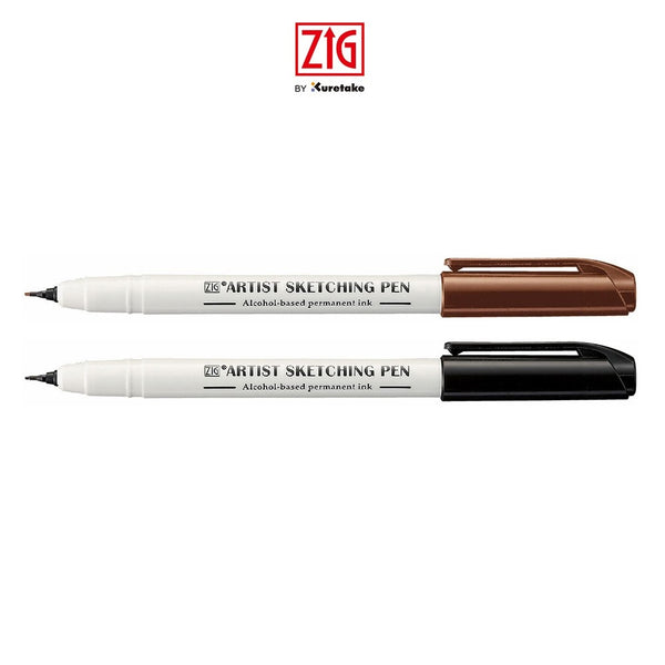 ZIG ARTIST SKETCHING PEN BLACK 0.6MM
