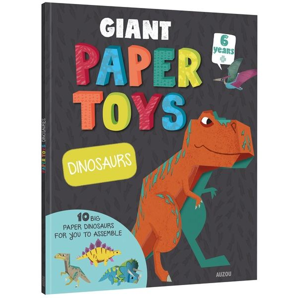Book - Giant Papertoys - Dinosaurs