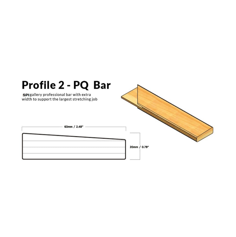 SPI Thin Profile Stretcher Bar - pair